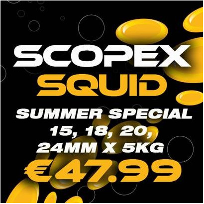 SCOPEX SQUID BOILIES STABILISED 5 kg. 15/20/24 mm