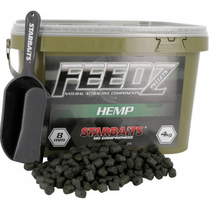 STARBAITS FEEDZ HEMP PELLETS 8 mm. 4 kg.