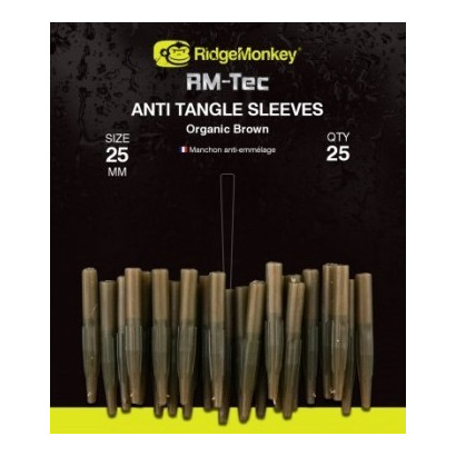 RM-Tec SHORT Anti-Tangle Sleeves GREEN/BROWN