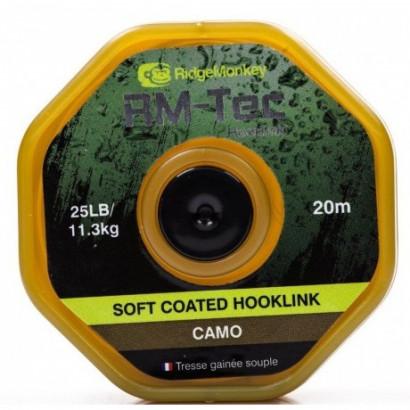 RM-TEC Soft Coated Hooklink 25/35lb 20mtr CAMO