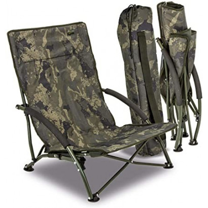 SOLAR CAMO FOLDABLE EASY CHAIR LOW